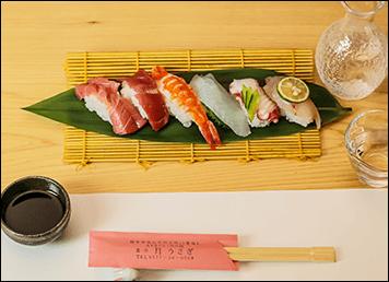 月うさぎではお寿司も楽しめます